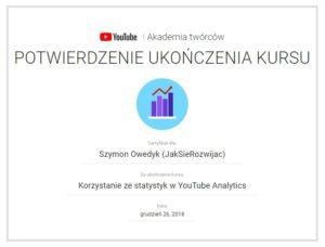 Ukończenie kursu YouTube Korzystanie ze statystyk w YouTube Analytics