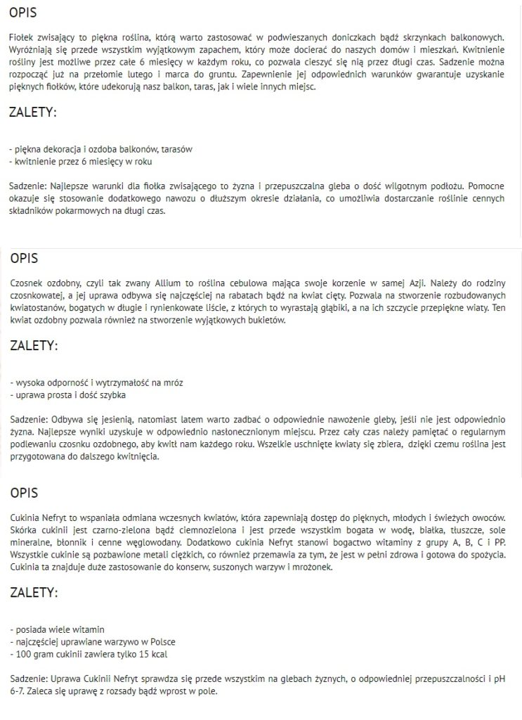 opisy produktów w sklepie internetowym - Copywriter Szymon Owedyk