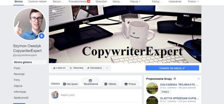 Fanpage CopywriterExpert jak promować i pozycjonować za darmo