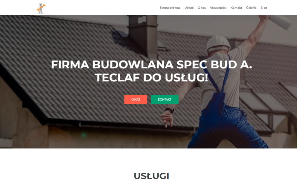 firma budowlana spec bud tworzenie stron WWW WordPress Toruń Włocławek Bydgoszcz Ciechocinek