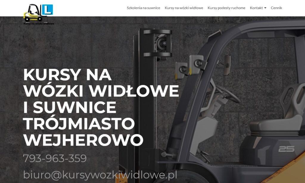tworzenie stron WWW Toruń Ciechocinek Włocławek bydgoszcz - firmy organizującej kursy na wózki widłowe BHP